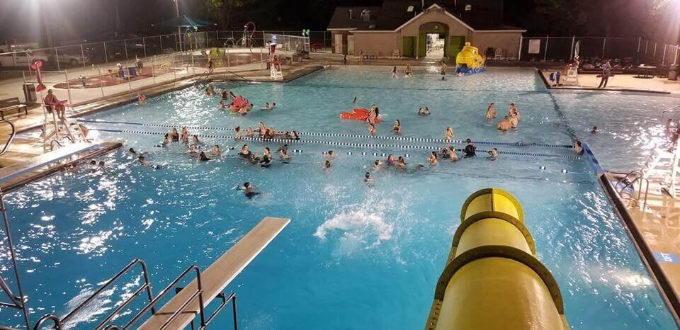 Slide at the New Hampton Pool