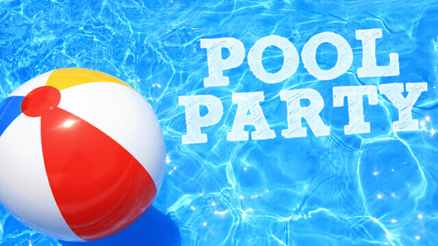 Pool Ball with Pool Party