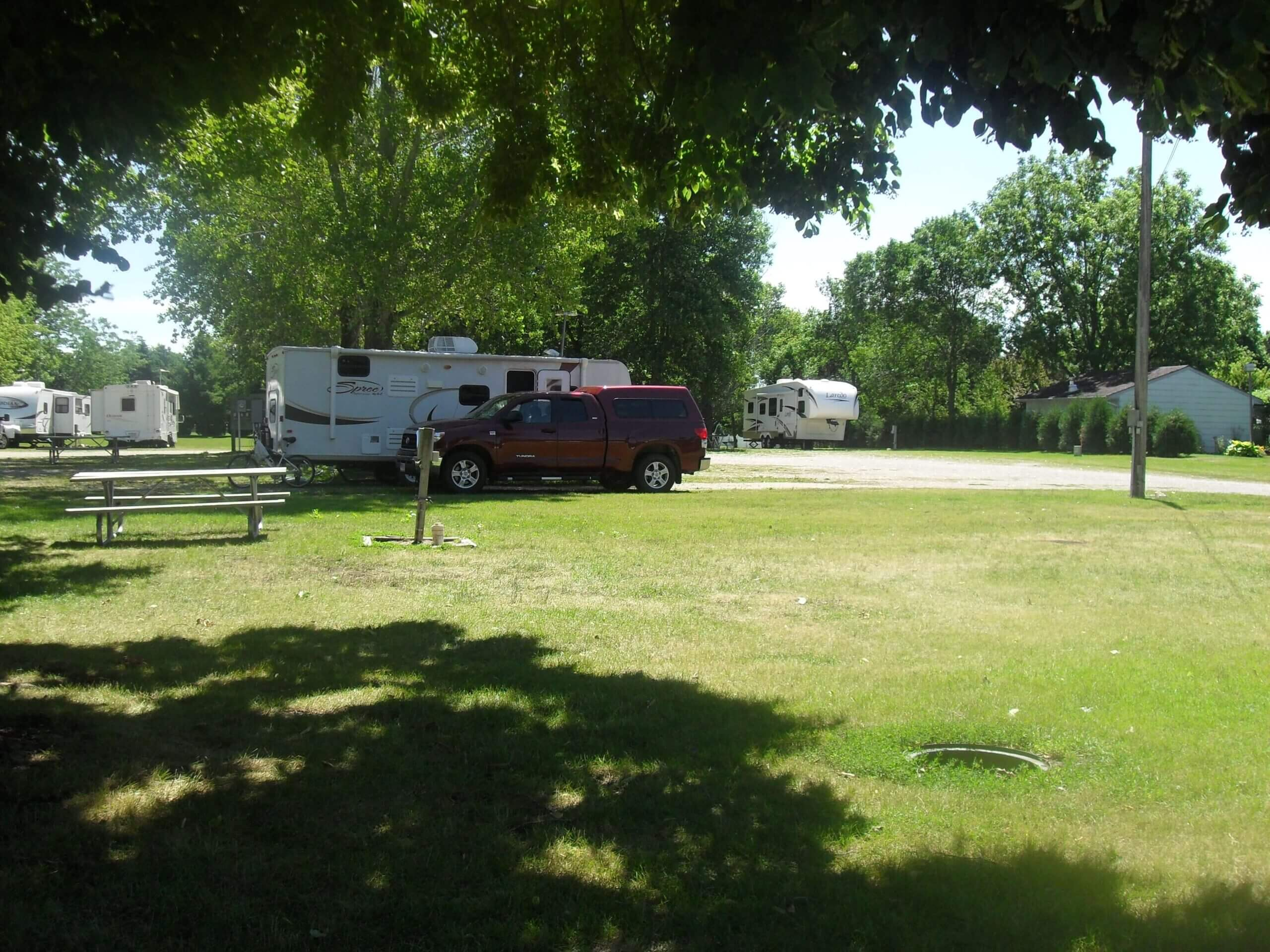 View of Camper at City of New Hampton Campground